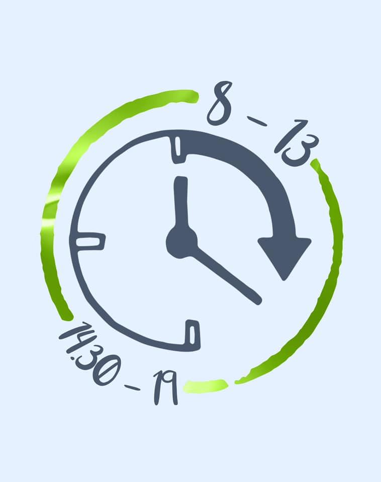 Aperto tutti i giorni dalle 8.00 alle 13.00 e dalle 14.30 alle 19.00